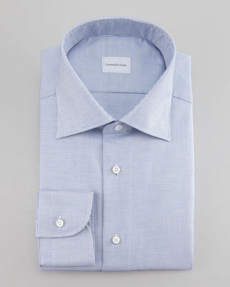 Textured Micro Neat Dress Shirt, Blue