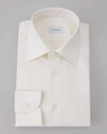 Twill Dress Shirt, Cream