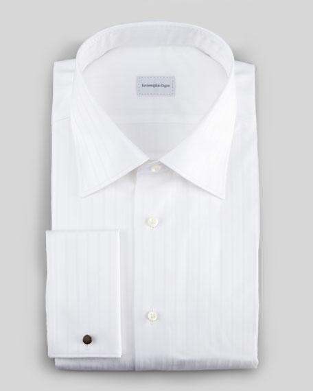 Herringbone Stripe Button-Down Shirt