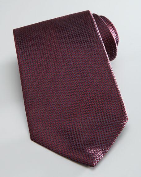 Textured Solid Tie, Wine