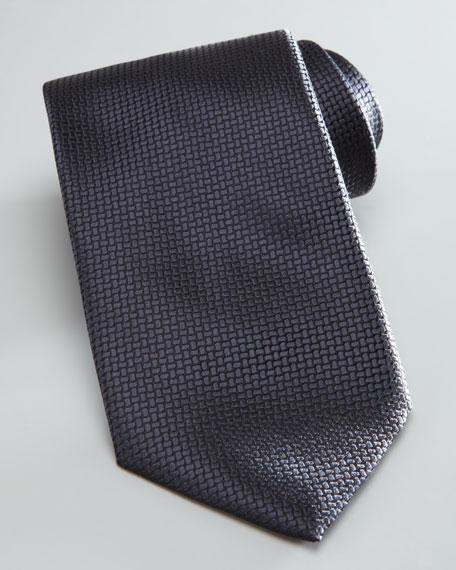 Textured Solid Tie, Charcoal