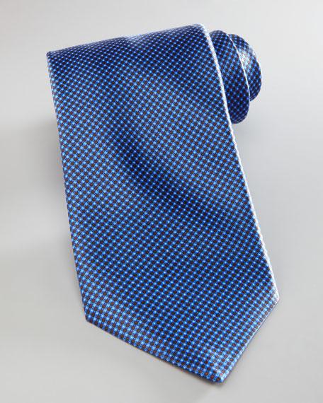 Micro Circle Silk Tie, Blue