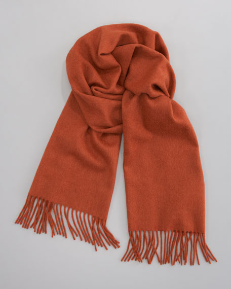 Cashmere Scarf, Orange