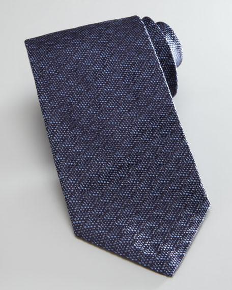 Tonal Textured Tie, Navy