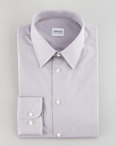 Shadow Check Shirt, Mauve