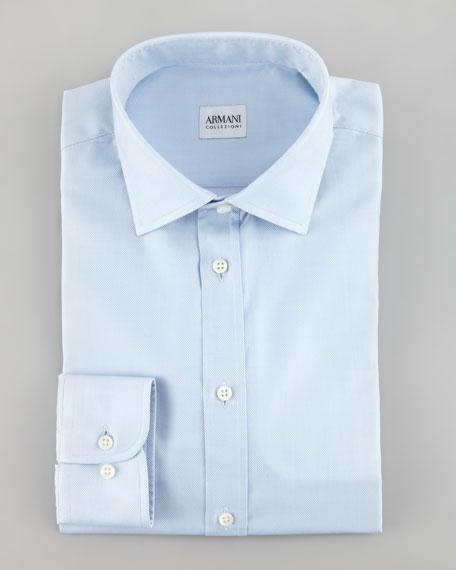 Oxford Stretch Shirt, Light Blue