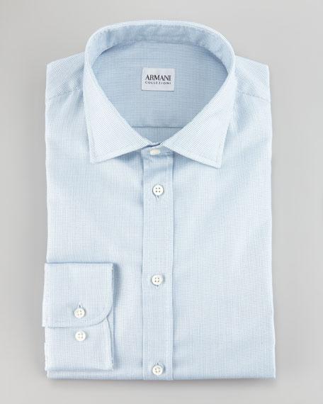 Microneat Woven Shirt, Aqua