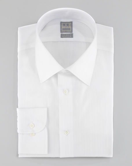 Striped Dress Shirt, White