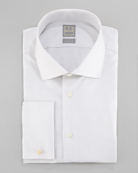 Textured Cotton-Silk Dress Shirt