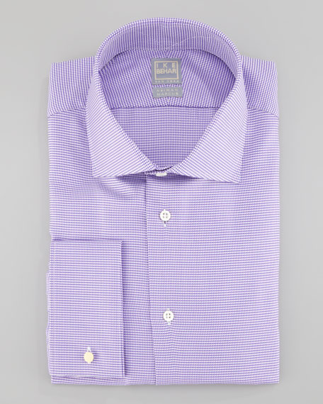 Houndstooth Dress Shirt, Purple