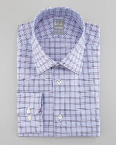 Check Dress Shirt, Blue/Plum