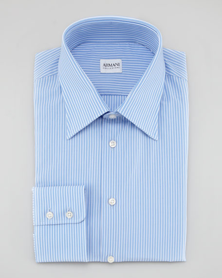 Pinstripe Button-Down Shirt