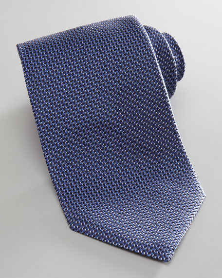Diagonal Neat Tie, Blue