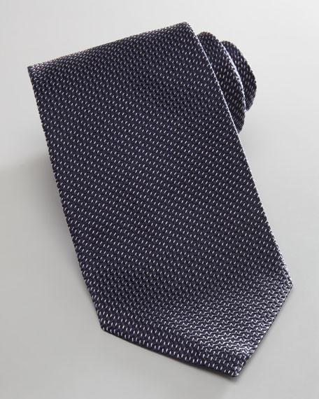 Diagonal Neat Tie, Navy