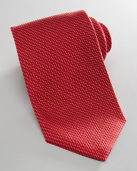 Diagonal Neat Tie, Red