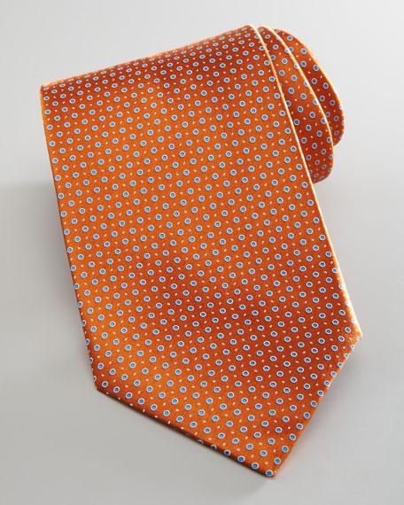 Dotted Silk Tie, Orange