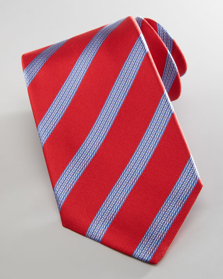 Tire Tread Stripe Tie, Navy