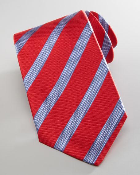 Tire Tread Stripe Tie, Navy