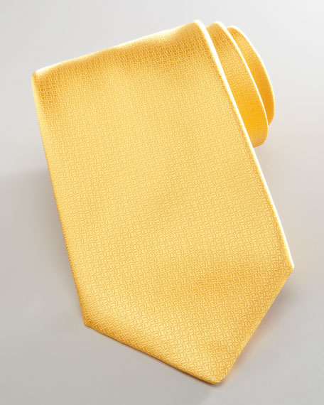 Pebbled Silk Tie, Yellow