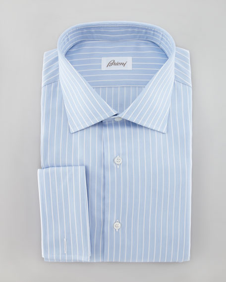 Texture Striped Dress Shirt, Blue