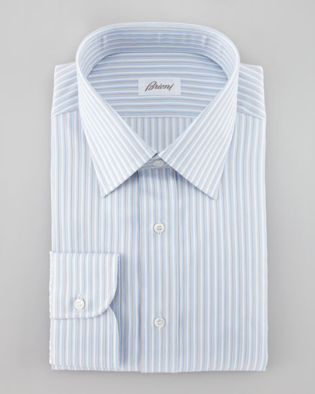 Herringbone Striped Dress Shirt