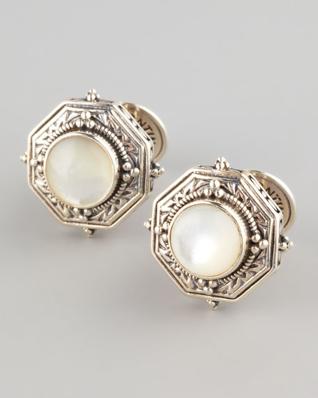 Mother-of-Pearl Octagon Cuff Links