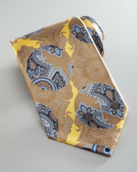 Fantasy Paisley Silk Tie, Yellow
