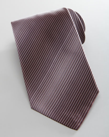 Degrade Stripe Silk Tie, Purple
