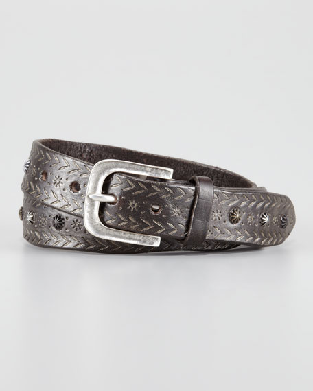 Roving Studded Leather Belt