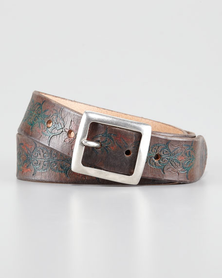 Weiss Tooled Leather Belt