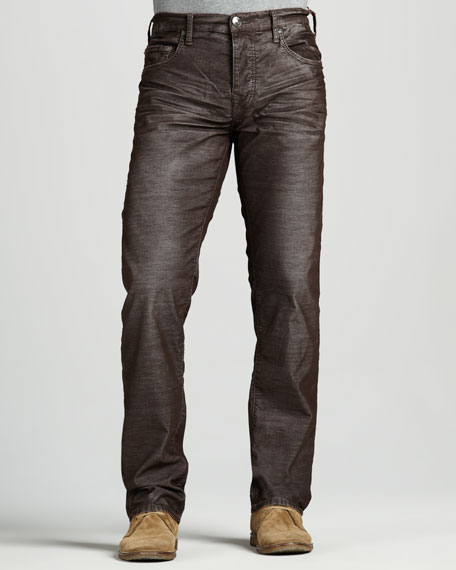 Geno Slim Corduroy Pants, Brown