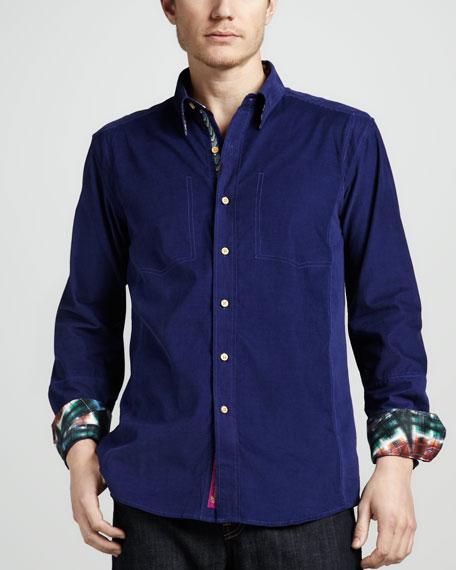 Baluster Corduroy Sport Shirt