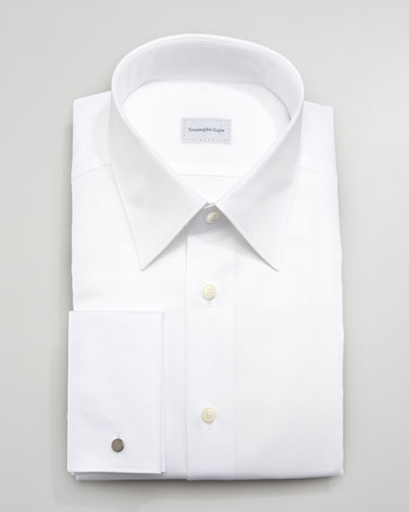 Textured Dress Shirt, White