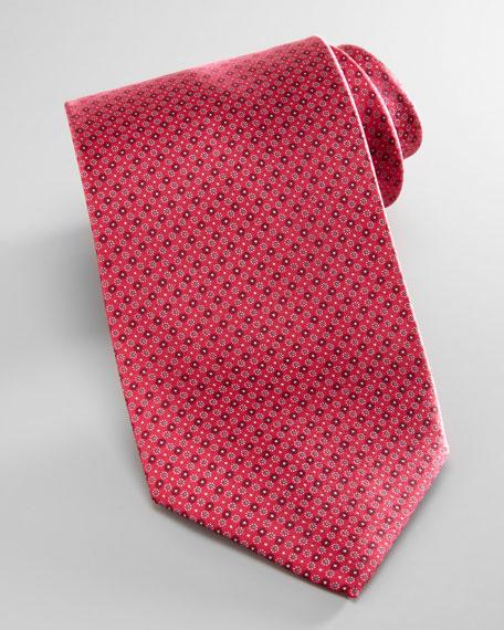 Micro-Neat Silk Tie, Red