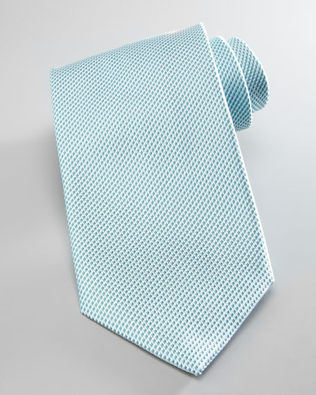 Textured Silk Tie, Mint