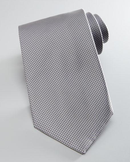 Textured Silk Tie, Charcoal
