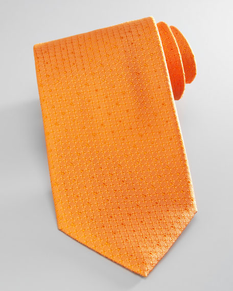 Textured Silk Tie, Orange
