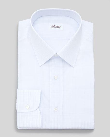 Check Dress Shirt, Light Blue