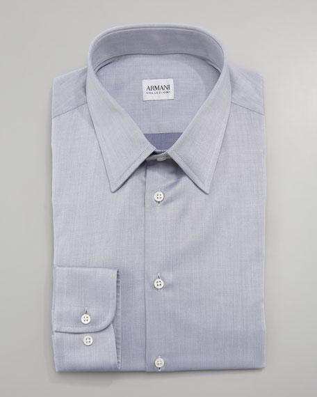 Twill Dress Shirt, Gray