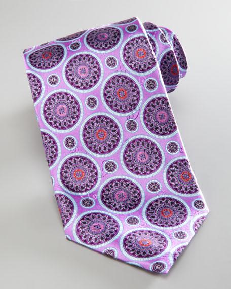 Circle Medallions Tie, Lavender