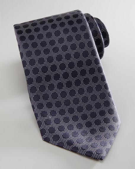 Woven Dot Tie, Navy