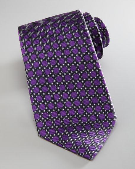 Woven Dot Tie, Magenta
