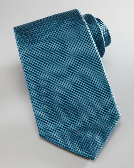 Grenadine Woven Silk Tie, Aqua