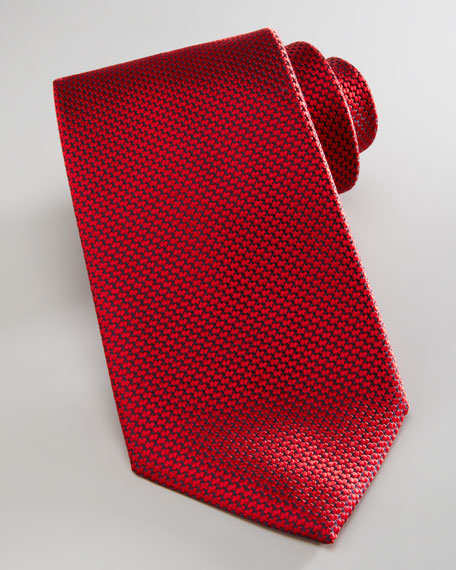 Woven Grenadine Tie, Red
