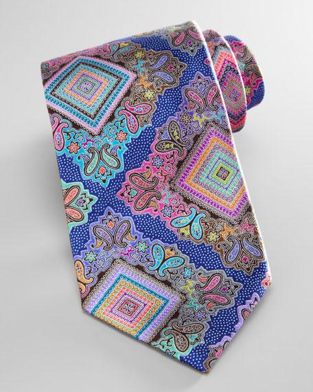 Venticinque Silk Tie, Blue