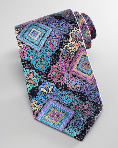 Venticinque Silk Tie, Navy