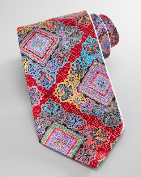 Venticinque Silk Tie, Red