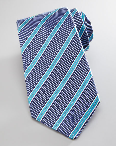Satin-Stripe Zegna Silk Tie