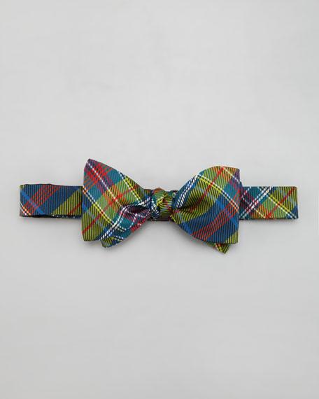 Plaid Twill Bow Tie, Green