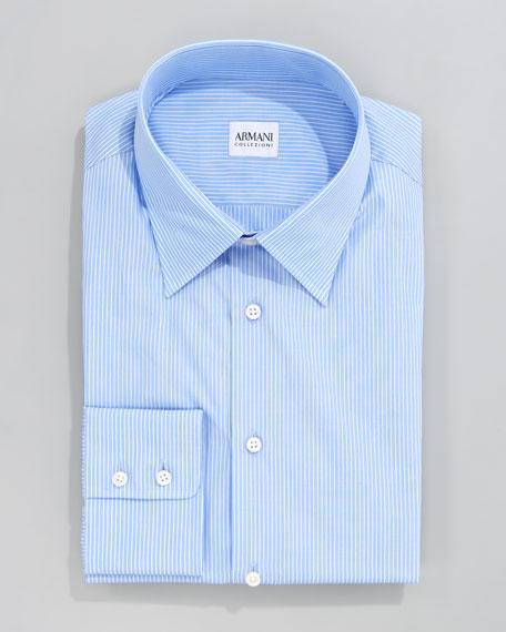 Striped Dress Shirt, Blue